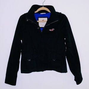 Hollister Utility Jacket in Navy Blue